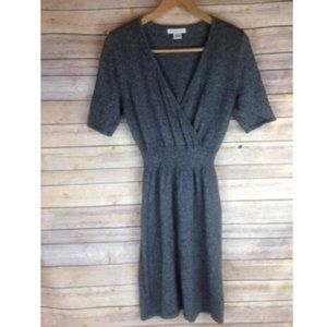 Liz Claiborne Dress Gray Shimmering Metallic